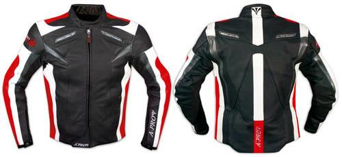 Leather-Jacket-Motorcycle-Racing-Motorbike-Sport-CE-Armored-A-Pro-Red
