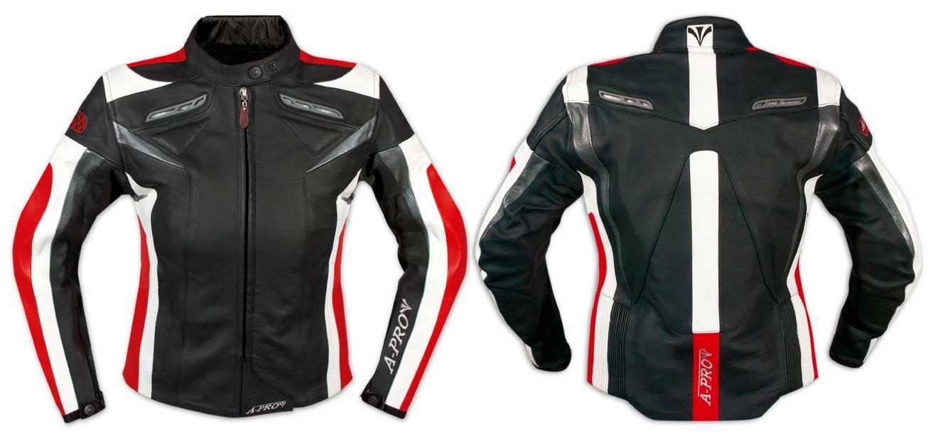 Giacca-Pelle-Moto-Donna-Protezioni-CE-Imbottitura-Termica-Femminile-Lady