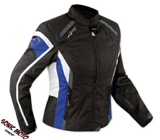 Jacket-Textile-Ladies-Racing-Motorcycle-Motorbike-CE-Armored-White-Blue