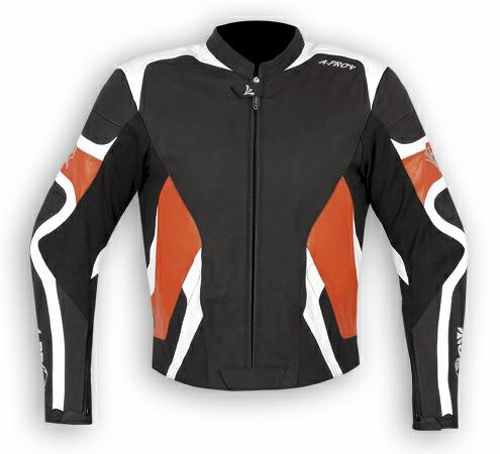 Giacca-Pelle-Sport-Race-Racing-Moto-Gobba-Protezioni-CE-KTM-SUZUKI-KAWASAKI