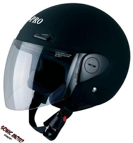 demi jet casque avec visiere homologation ece 2205 moto motard scooter ebay. Black Bedroom Furniture Sets. Home Design Ideas