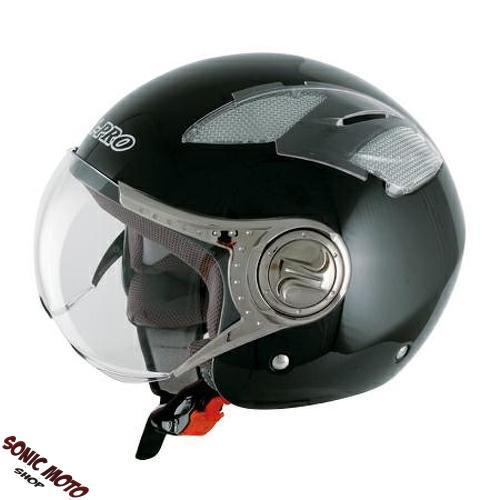 demi jet casque visiere moto motard scooter moped homolog. Black Bedroom Furniture Sets. Home Design Ideas