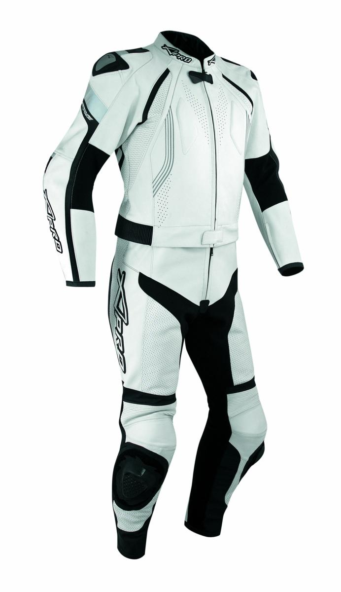 combinaison cuir blouson pantalon piste moto motard racing protections blanc 50 ebay. Black Bedroom Furniture Sets. Home Design Ideas