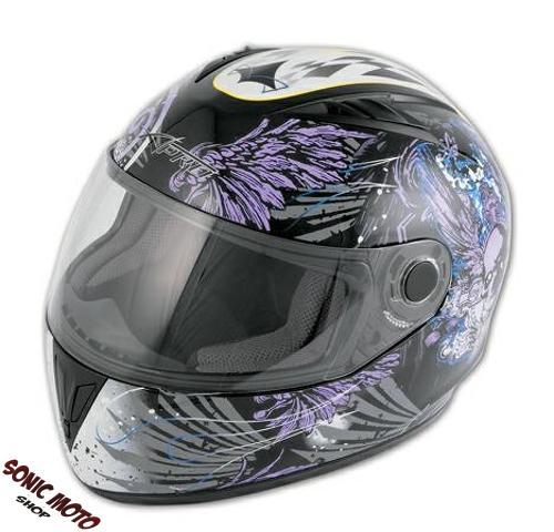 casque integral graphique piste racing moto motard sonic. Black Bedroom Furniture Sets. Home Design Ideas