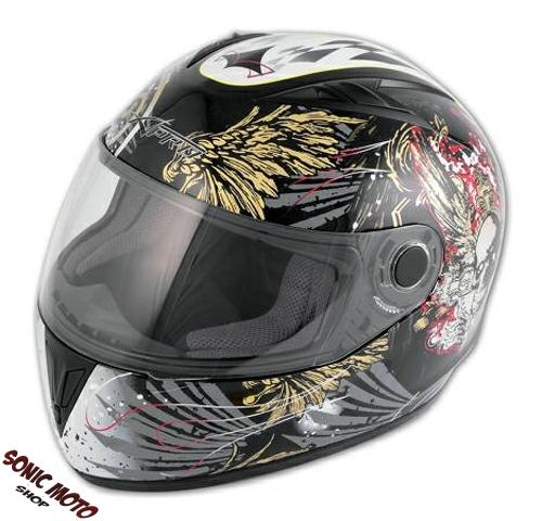 casque integral graphique piste racing moto motard sonic moto original nouveau ebay. Black Bedroom Furniture Sets. Home Design Ideas