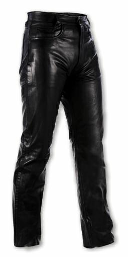 Pantaloni-Donna-pelle-moto-Custom-Chopper-Jeans-5-Tasche-American-Pro