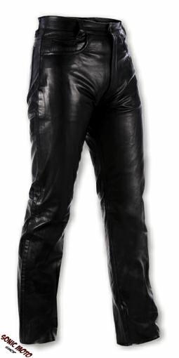 Femme-Homme-Pantalon-Cuir-Veau-Motard-Moto-Touring-Chopper-Custom-Jeans