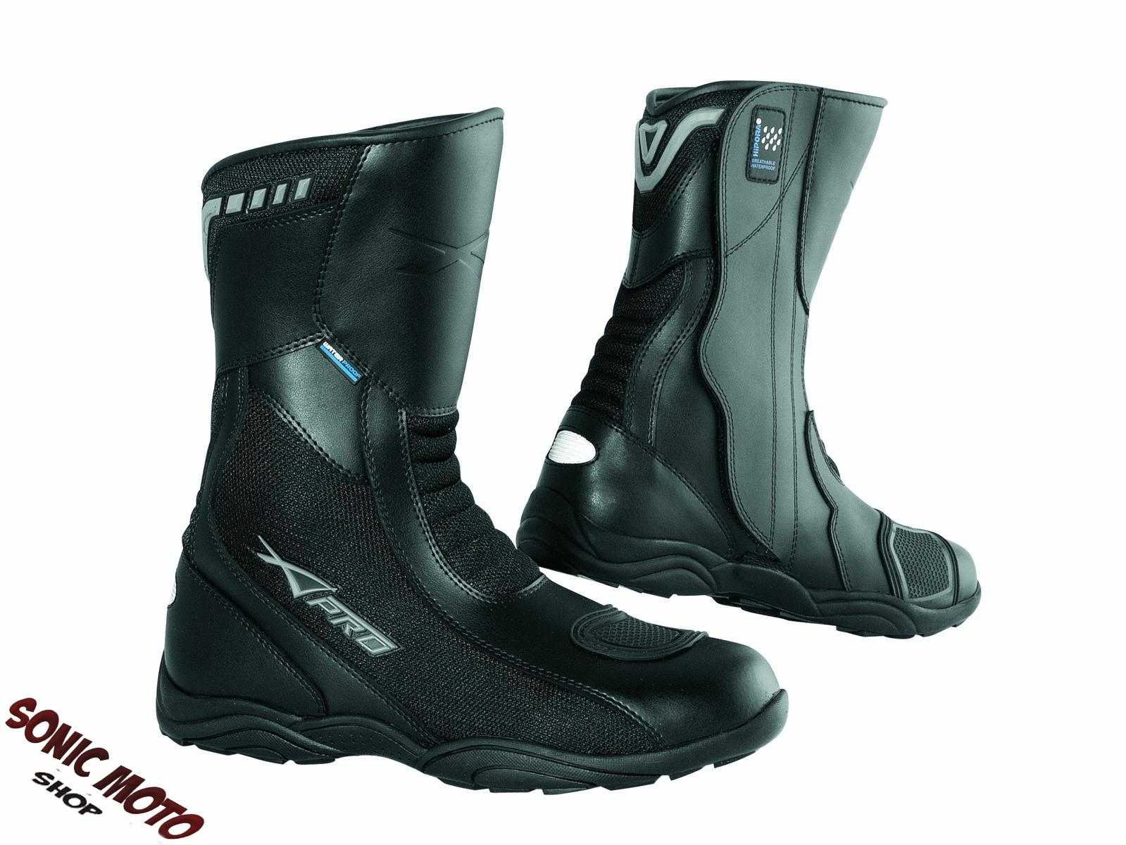 Waterproof Breathable Boots Touring Sports Motorcycle Apparel Leather