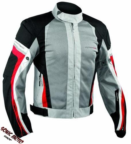 Summer Motorbike Mesh Sport Racing Touring CE Armored Jacket Motorcycle Grey Red