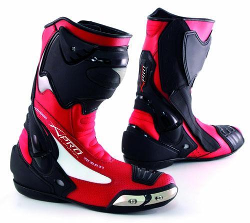 bottes racing cuir vachette zip renforts chaussures moto motard piste rouge 41 ebay. Black Bedroom Furniture Sets. Home Design Ideas