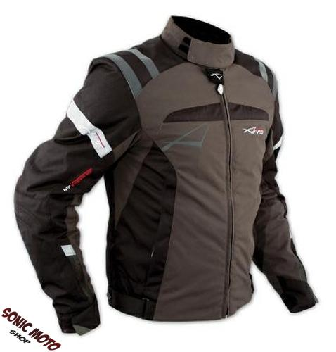 Giacca-Sport-Touring-Tessuto-Moto-Cordura-CE-Protezioni-Sfoderabile-Marrone
