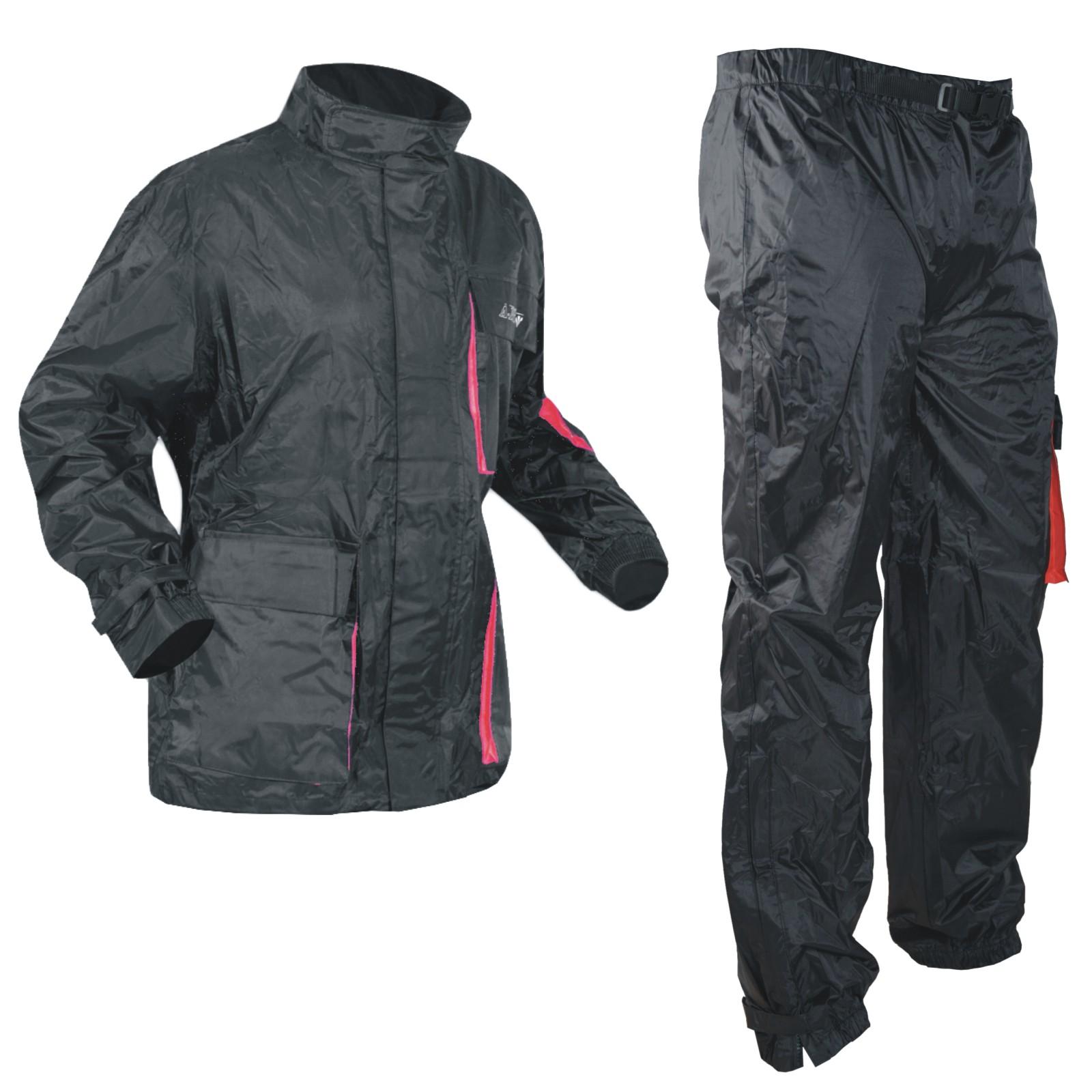Impermeabile-2-Pezzi-Anti-Pioggia-Tuta-Pantaloni-Giacca-Pantoloni-Moto-Scooter