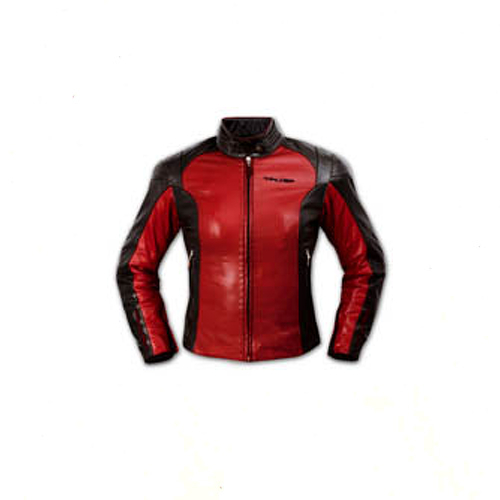 Ladies-Leather-Jacket-Motorcycle-Motorbike-CE-Armored-Thermal-Liner-Red