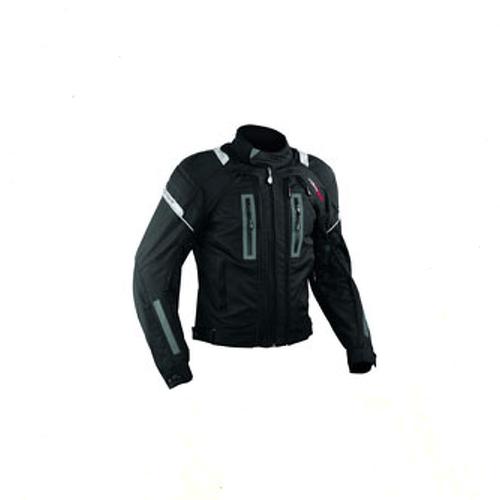 Giacca-Moto-Tessuto-Cordura-Mesh-Protezioni-CE-Impermeabile-4-Stagioni-Nero
