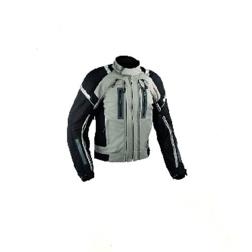 Chaqueta-de-la-Moto-de-Cordura-malla-protectores-impermeable-4-capas-Gris
