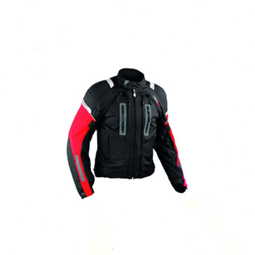 Chaqueta-de-la-Moto-de-Cordura-malla-protectores-impermeable-4-capas-Rojo