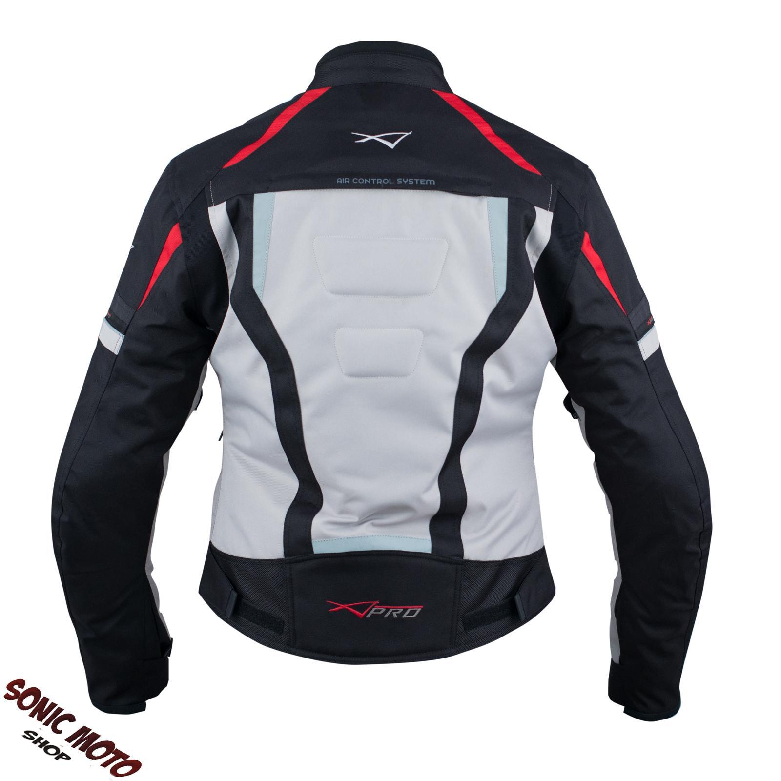 Giacca-Donna-Moto-Ventilata-Tessuto-Protezioni-CE-Sport-Impermeabile