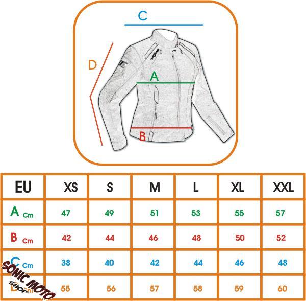 Donna-Giacca-Moto-Tessuto-Impermeabile-Traspirante-Riflettente-Ventilata