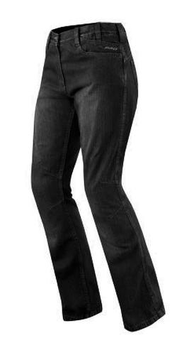 Jeans-Femme-Denim-CE-Protections-Moto-Motard-Pants-Coton-Lady-Trousers-Noir