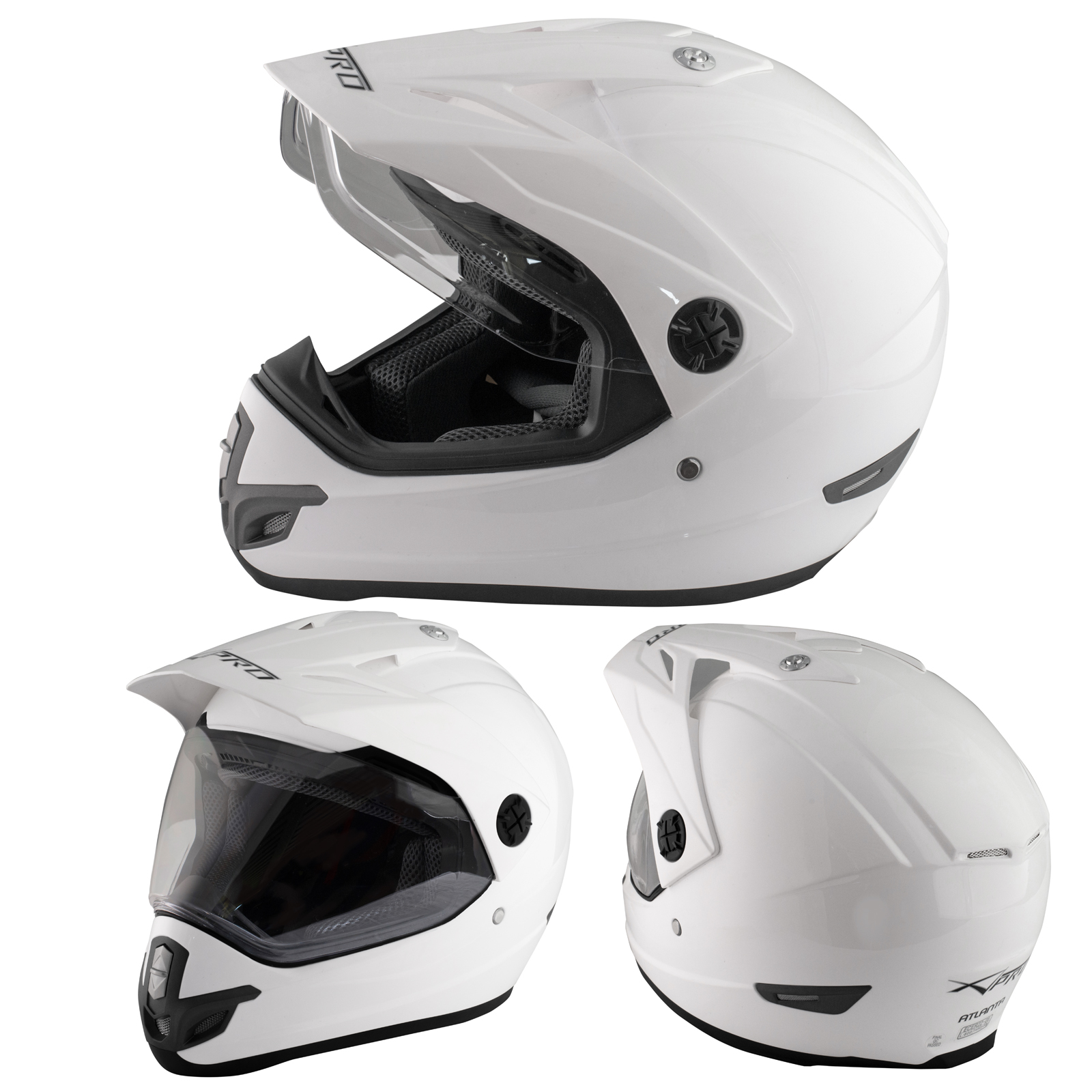 Casco-Motocross-Enduro-Trial-Quad-ATV-Motard-Visera-Anti-Niebla-Blanco