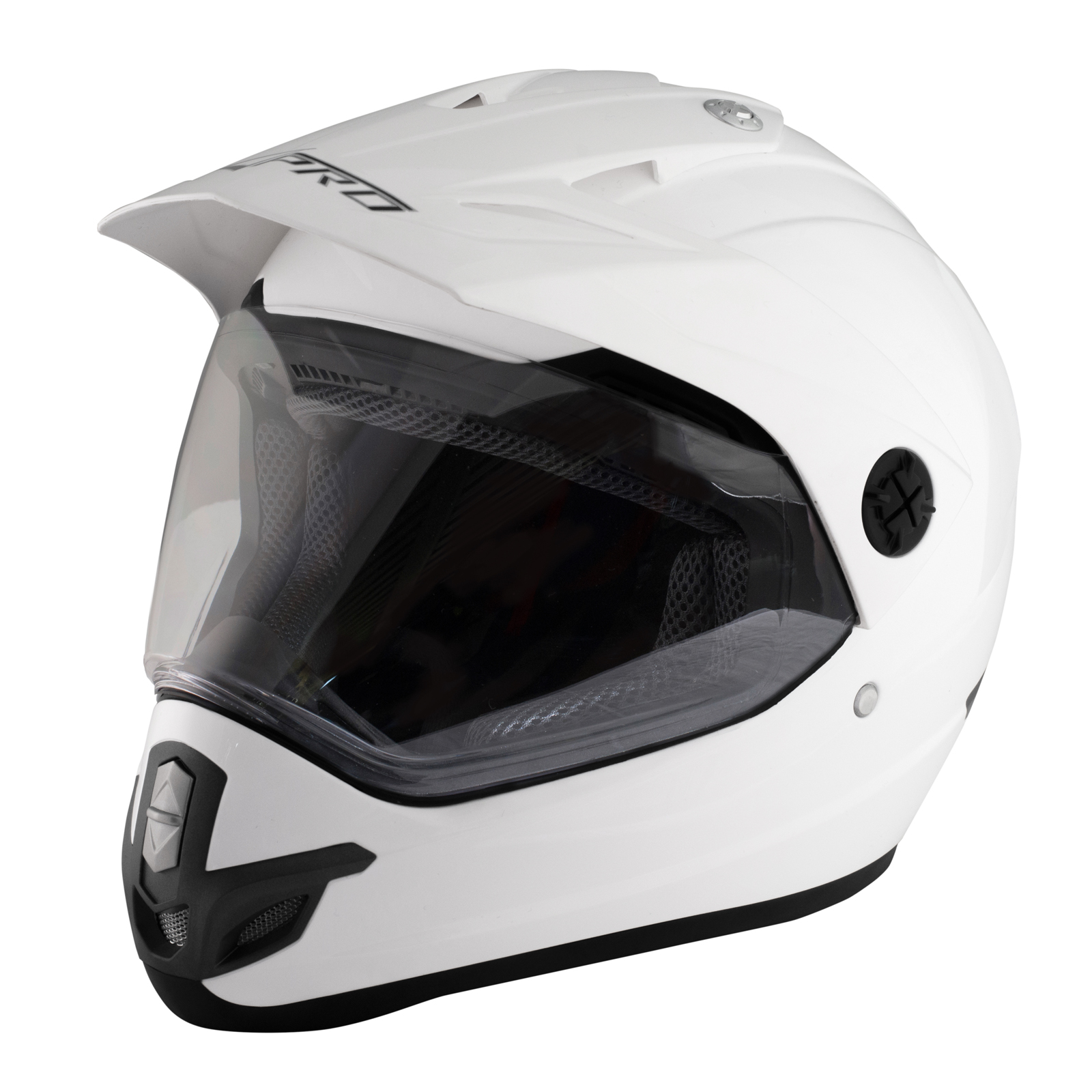 casque motocross moto enduro offroad quad atv visi re anti bu e blanc ebay. Black Bedroom Furniture Sets. Home Design Ideas