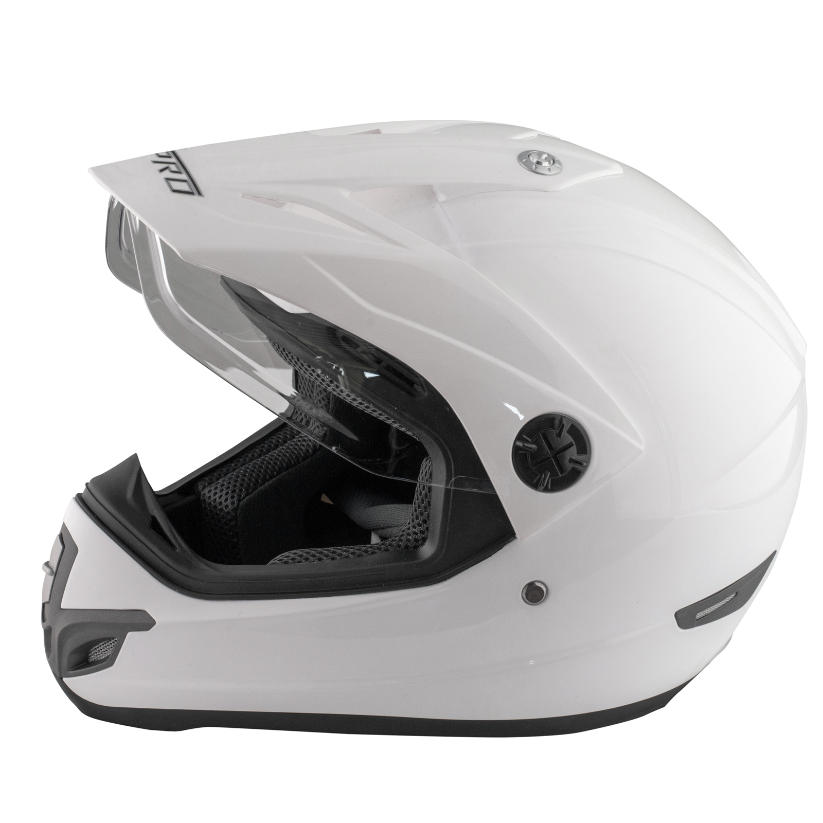 Casque-Motocross-Moto-Enduro-Offroad-Quad-ATV-Visiere-Anti-Buee-Blanc