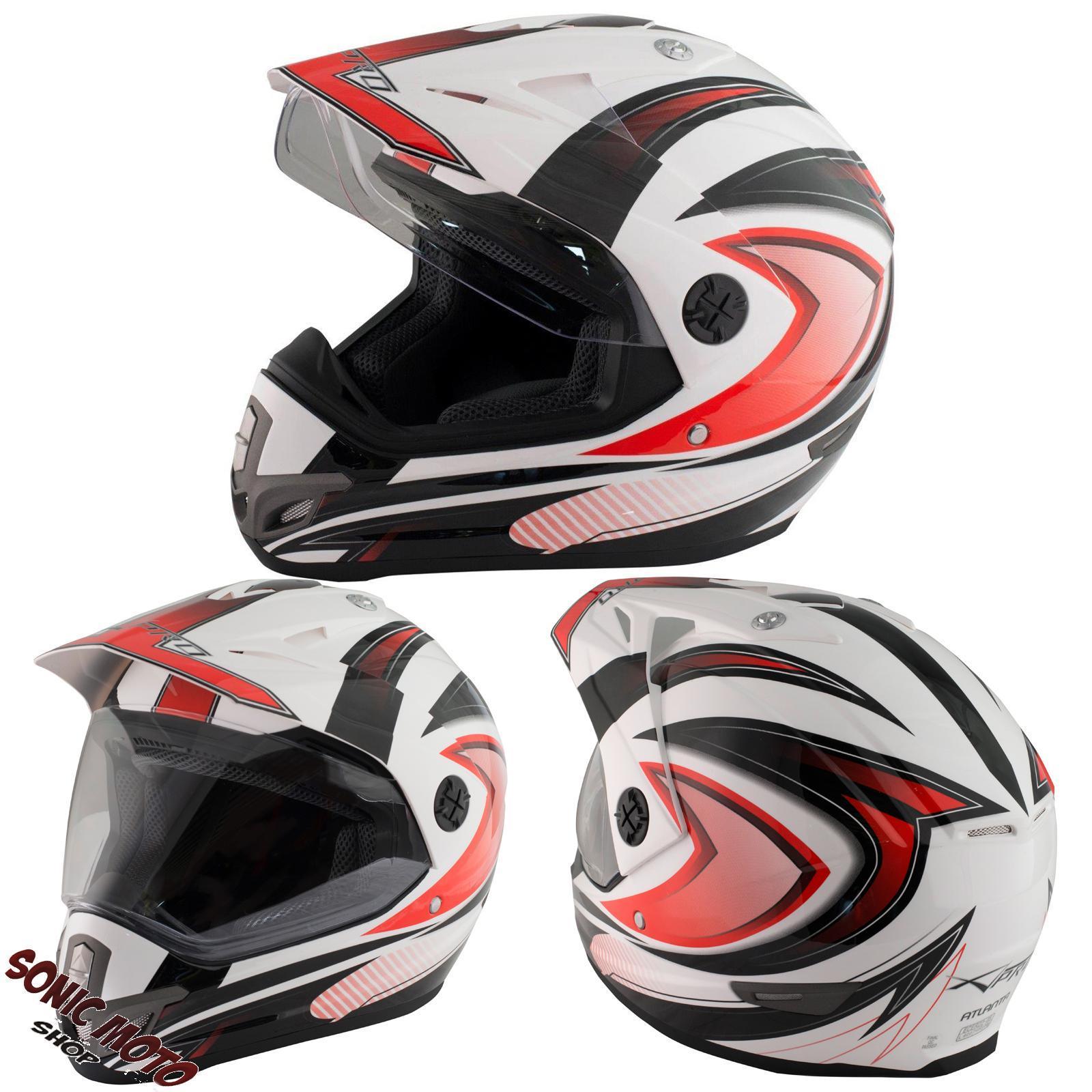 Casque-Motocross-Moto-Enduro-Offroad-Quad-ATV-Visiere-Anti-Buee-Red