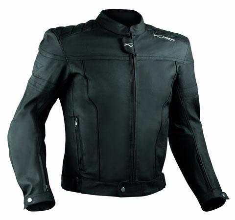Motorcycle-Motorbike-Quality-Genuine-Leather-Jacket-CE-Protection-Cruiser-Black