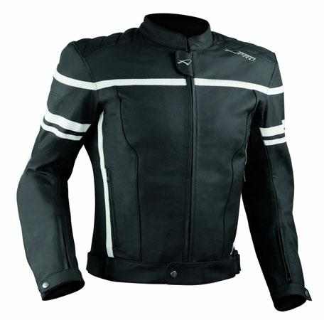 Motorcycle-Motorbike-Quality-Genuine-Leather-Jacket-CE-Protection-Cruiser-White