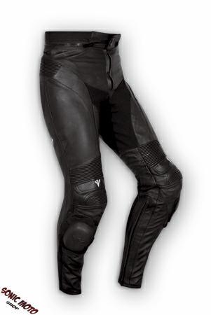 Pantalon-Cuir-Racing-Moto-Touring-Protections-CE-slides-Biker-Wear-Motard-Noir