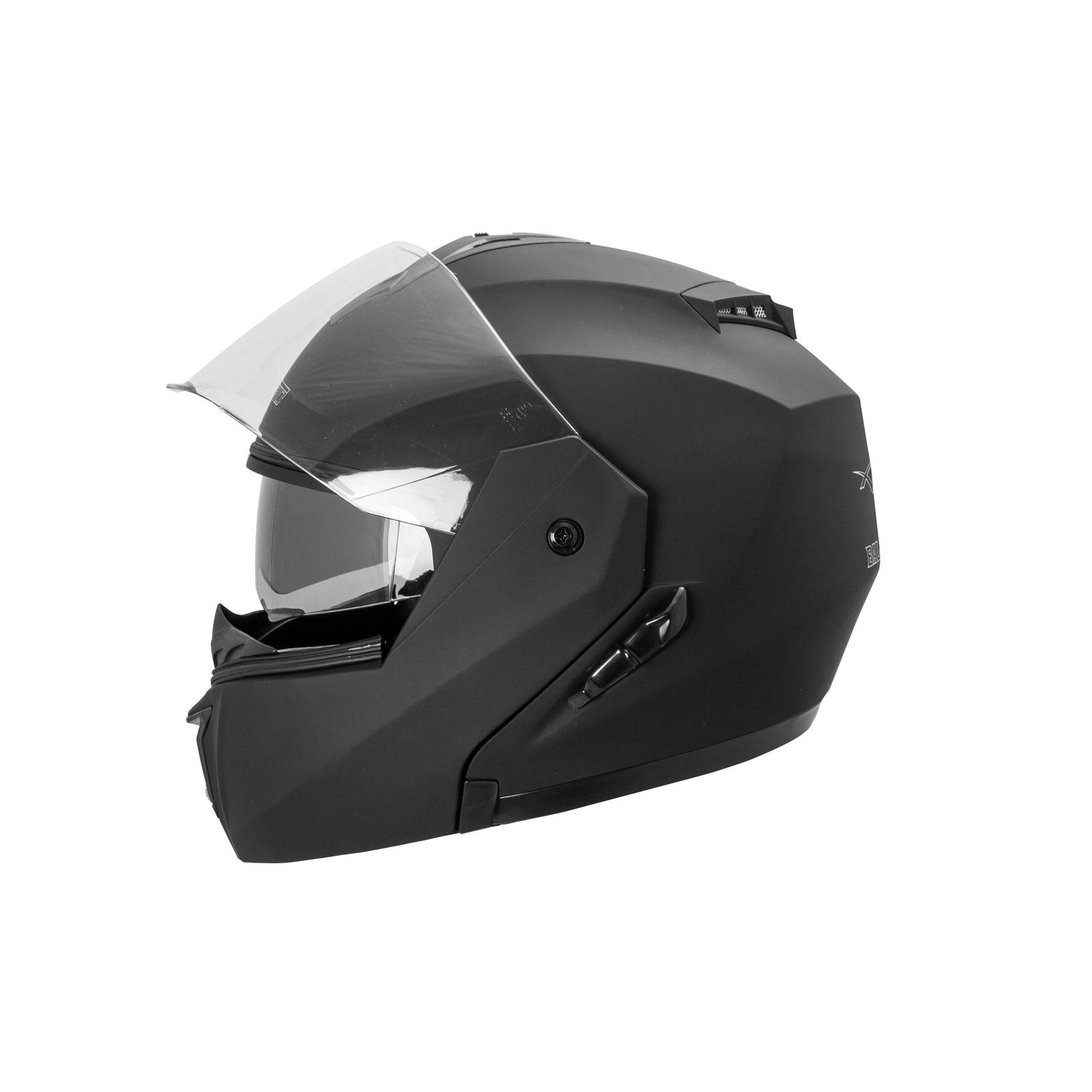 casque int gral double visi re ece 22 05 moto scooter noir. Black Bedroom Furniture Sets. Home Design Ideas