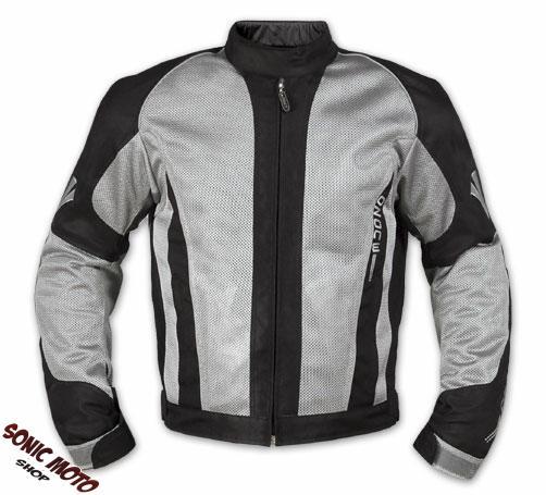 Chaqueta-Malla-perforada-transpirable-Tejido-Tecnico-Moto-Touring-Cordura-Gris