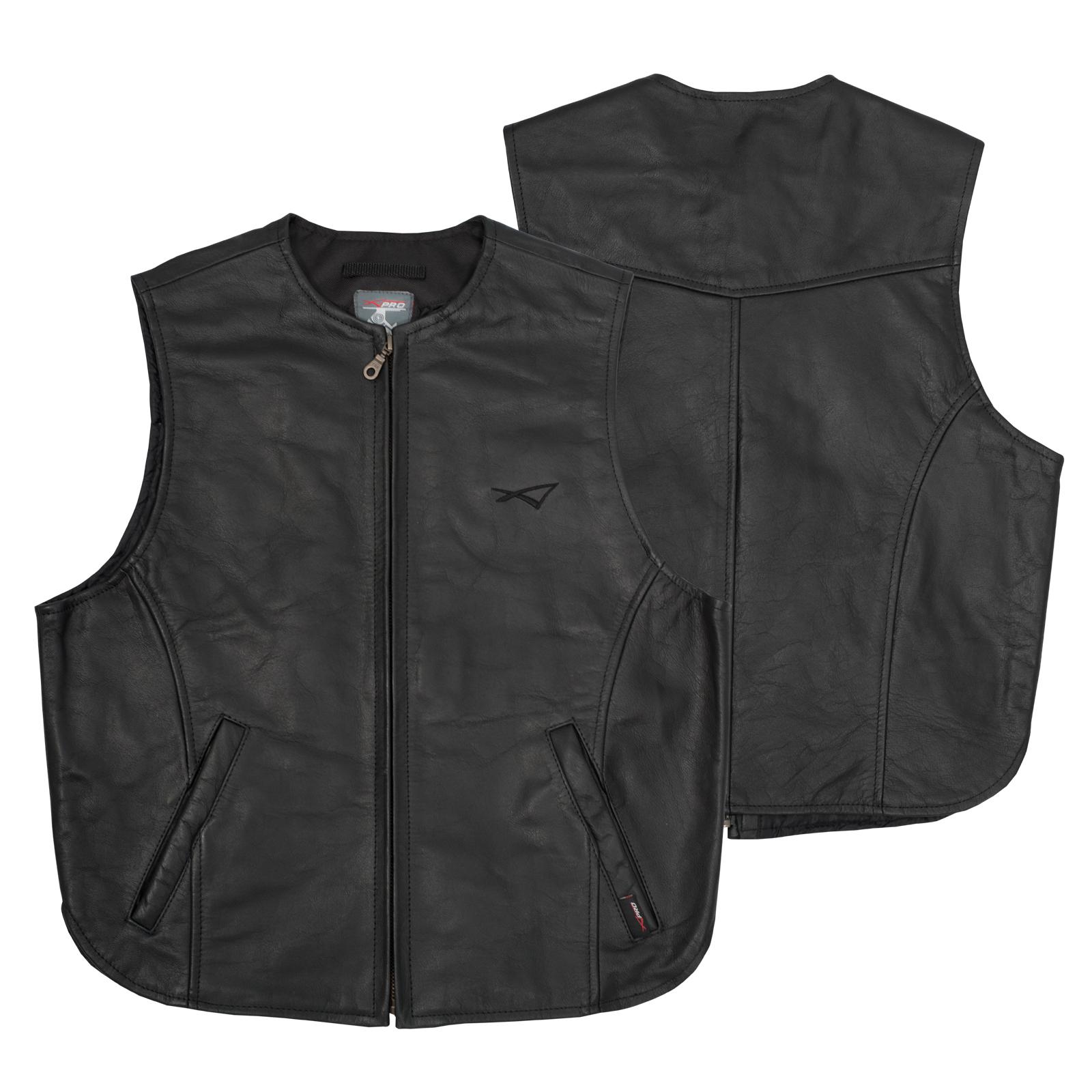 gilet cuir vachette classic noir motard moto chopper custom qualit sans manches ebay. Black Bedroom Furniture Sets. Home Design Ideas