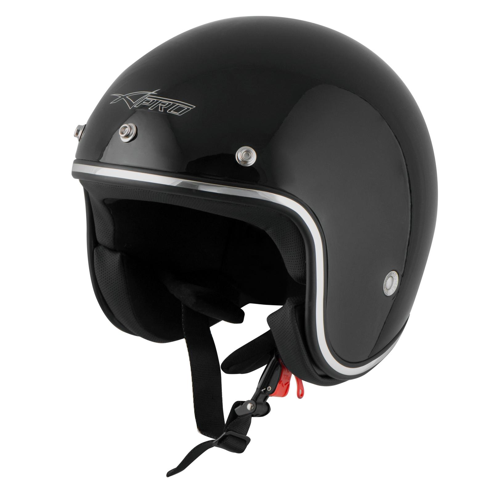 Casque-Moto-Jet-Kustom-Demi-Scooter-ECE-22-05-approbation miniature 9