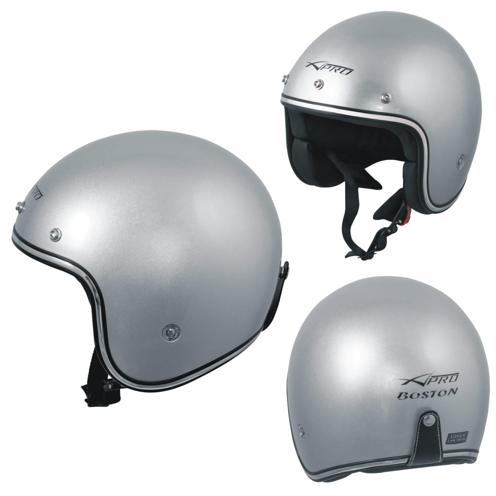 Lsrryd Motociclo Casco Open-Face Scooter Doppi Occhiali Sicurezza Moda personalit/à per Uomini Donne Colore : Brown, Dimensioni : M 55-57cm