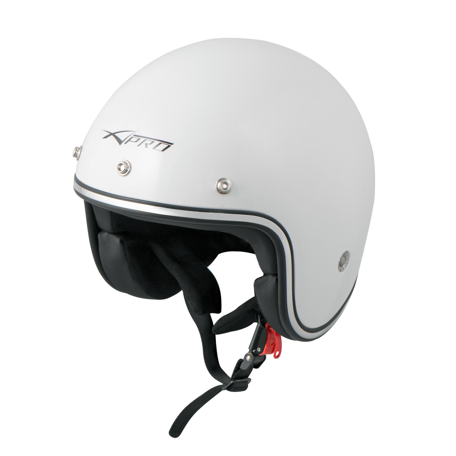 Casque-Moto-Jet-Kustom-Demi-Scooter-ECE-22-05-approbation miniature 18