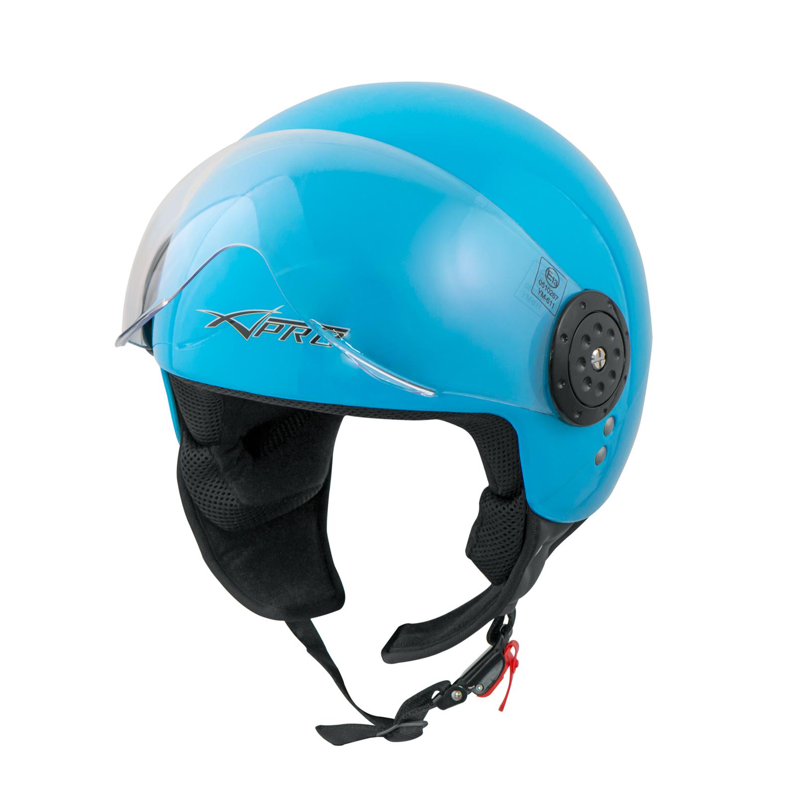 Scooter-Moto-Casco-Jet-Demi-Omologato-ECE-22-05-Visiera-Avio