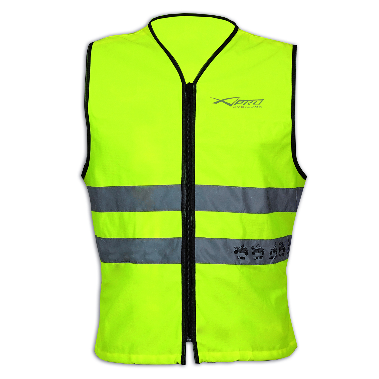 bright vest hi vis motorcycle mortorbike scooter quad gilet high visibility ebay. Black Bedroom Furniture Sets. Home Design Ideas
