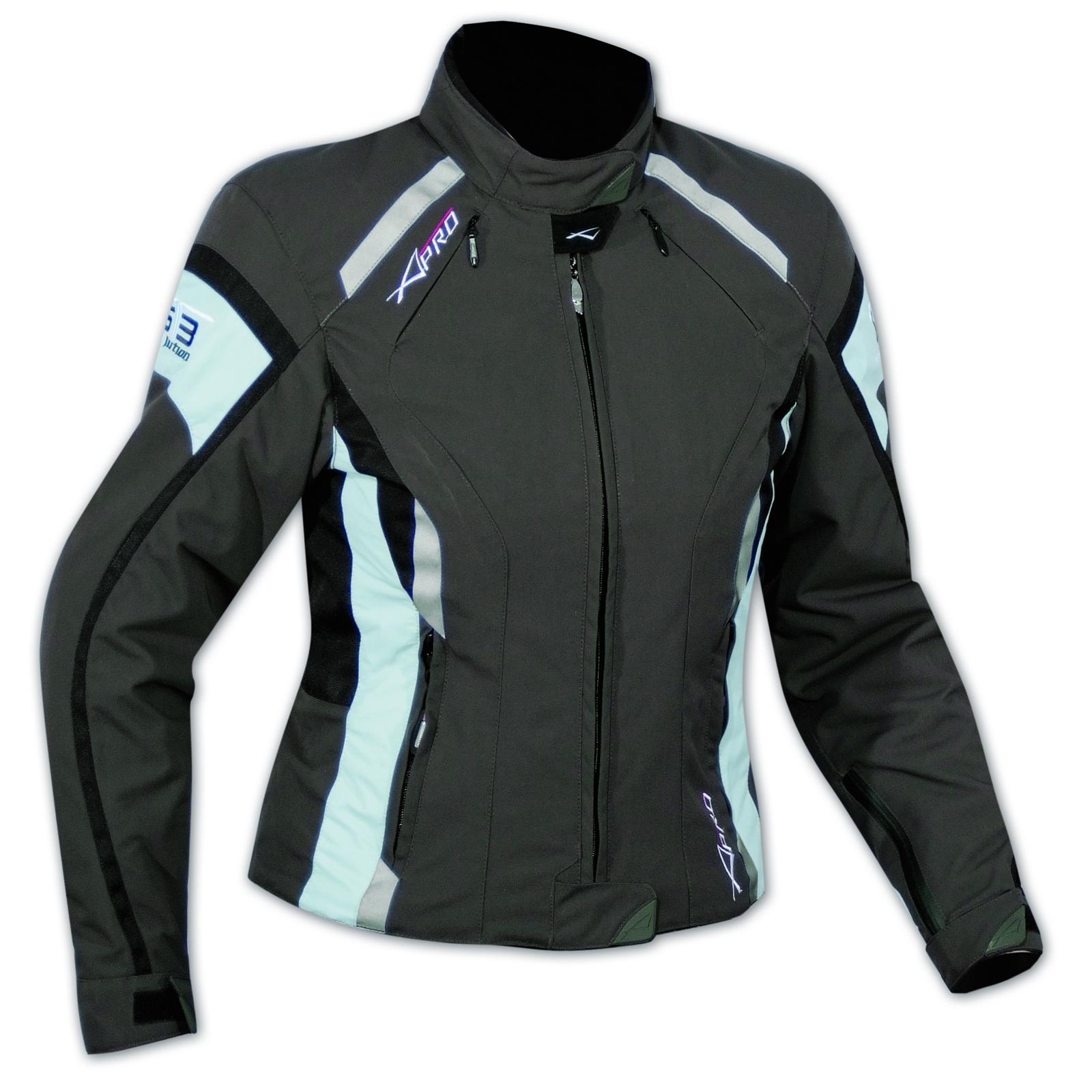 Donna Giacca Moto Giacca Moto Cordura breve tessile Bianco XXXL