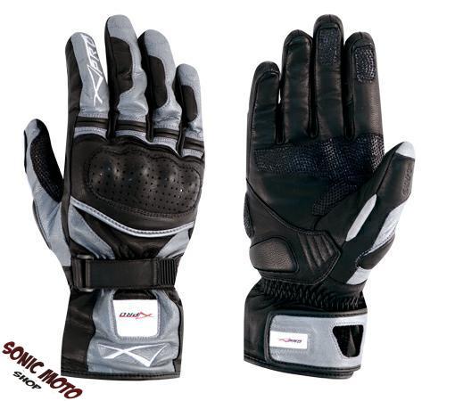 Guanto-Sport-Moto-Pelle-Corto-Foderato-Protezioni-Imbottito-Racing-Sportivo