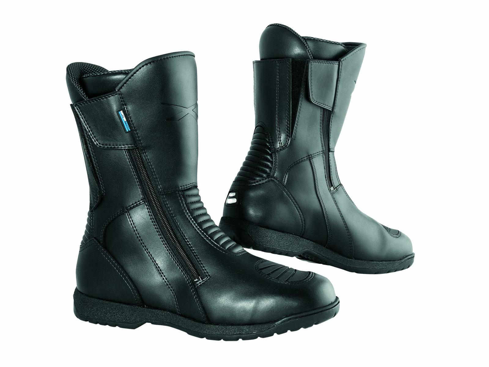 Bottes-Motard-Cuir-Moto-Piste-Scooter-Impermeable-Custom-Homme-Chaussures