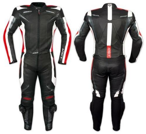 Tuta-Pelle-Moto-Racing-Pista-Sport-2-Pezzi-Divisibile-Spezzato-Prese-Aria-A-Pro