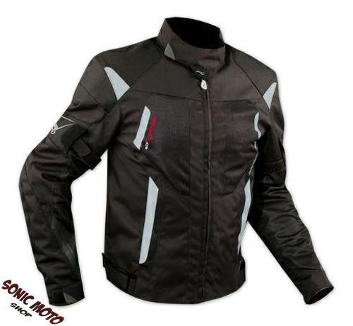 Chaqueta-de-la-Moto-de-Cordura-red-Tejido-perforado-Verano-Protecciones-CE-Negro