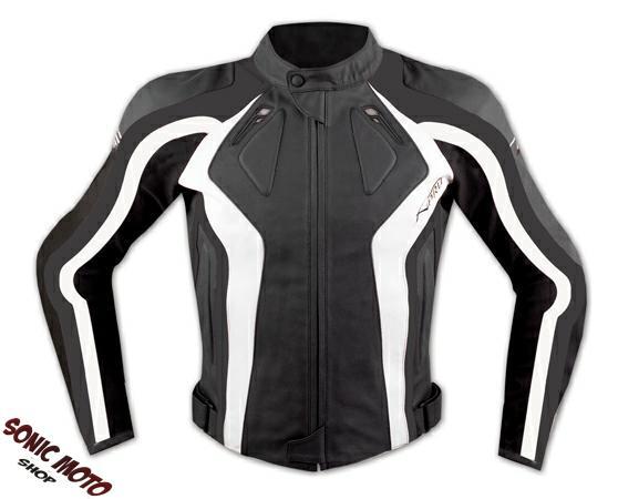 Veste-Femme-Lady-Moto-Peau-Protections-homologue-CE-Renforcement-Dos-Blanc