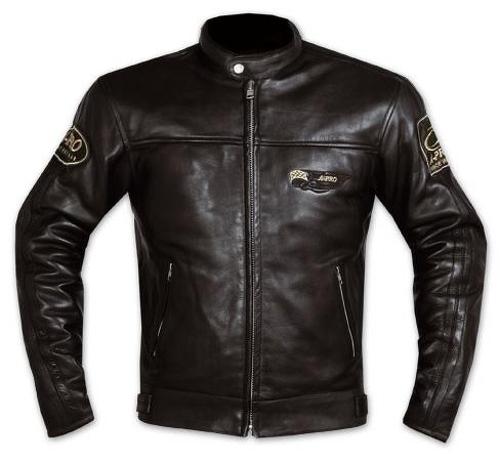 Moto-chaqueta-Piel-de-Bikers-Custom-Chopper-Biker-Negro