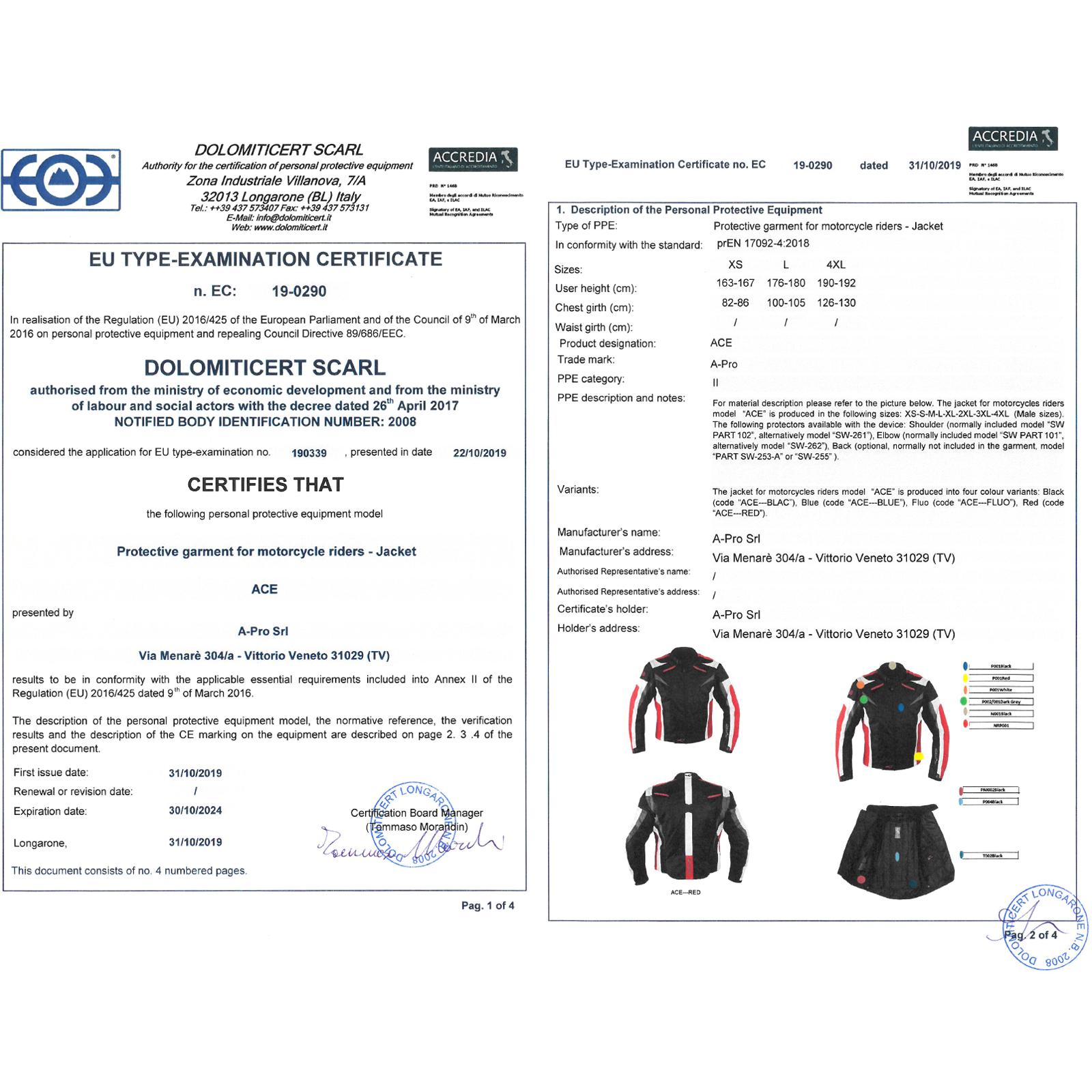miniatura 11 - Giacca Tessuto Moto Protezioni CE Manica Staccabile Gilet Termico Removibile