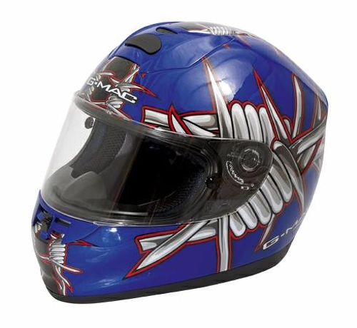 casque fibre integral piste racing moto homolog graphique motard motif bleu xxl ebay. Black Bedroom Furniture Sets. Home Design Ideas