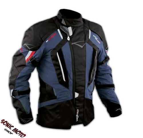 Motorbike-Motorcycle-Waterproof-CE-Armours-Textile-Touring-Tex-Jacket-Dark-Blue