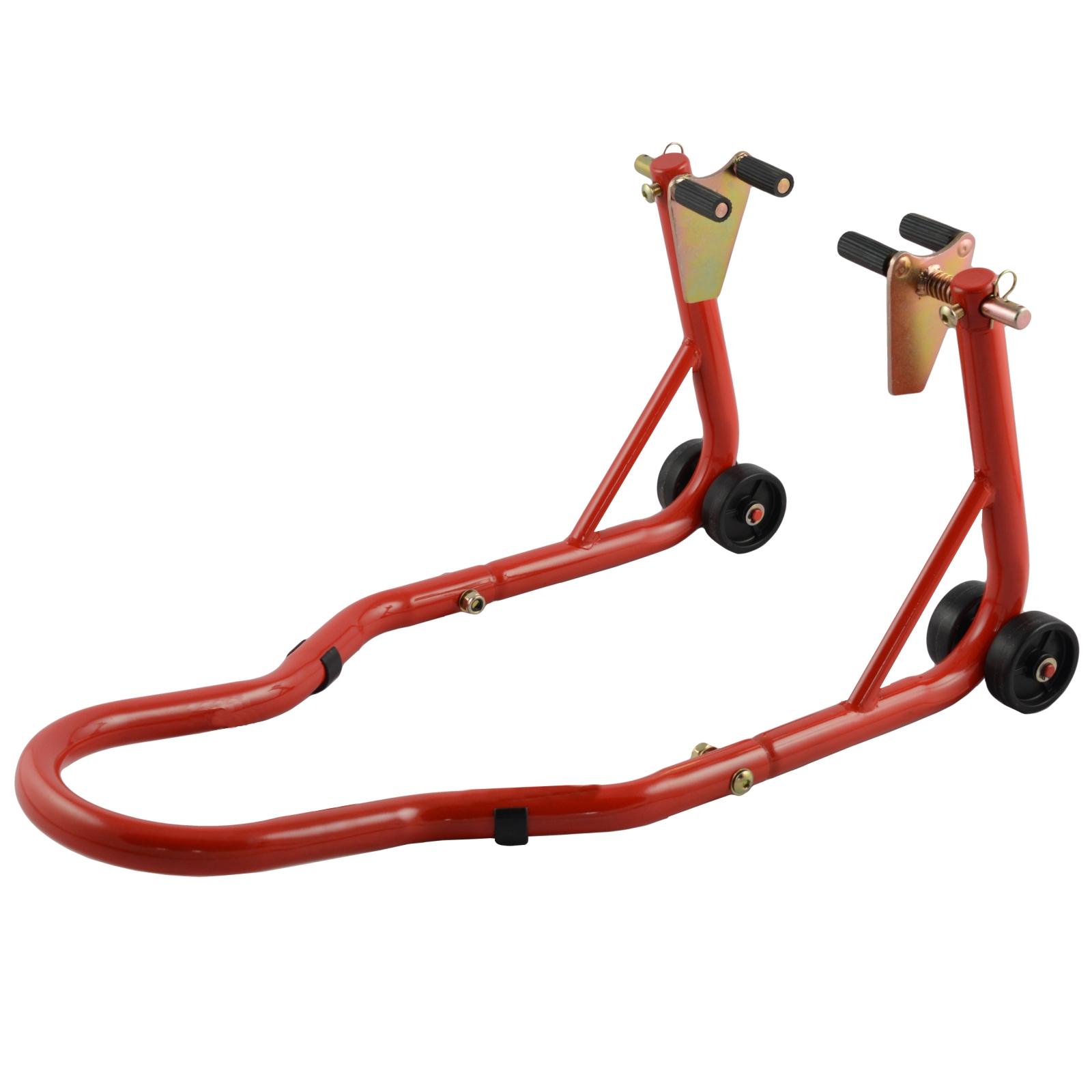 A-Pro Front Bike Paddock Stand Back Wheel Lift Chock Garage Moto Motor Bike