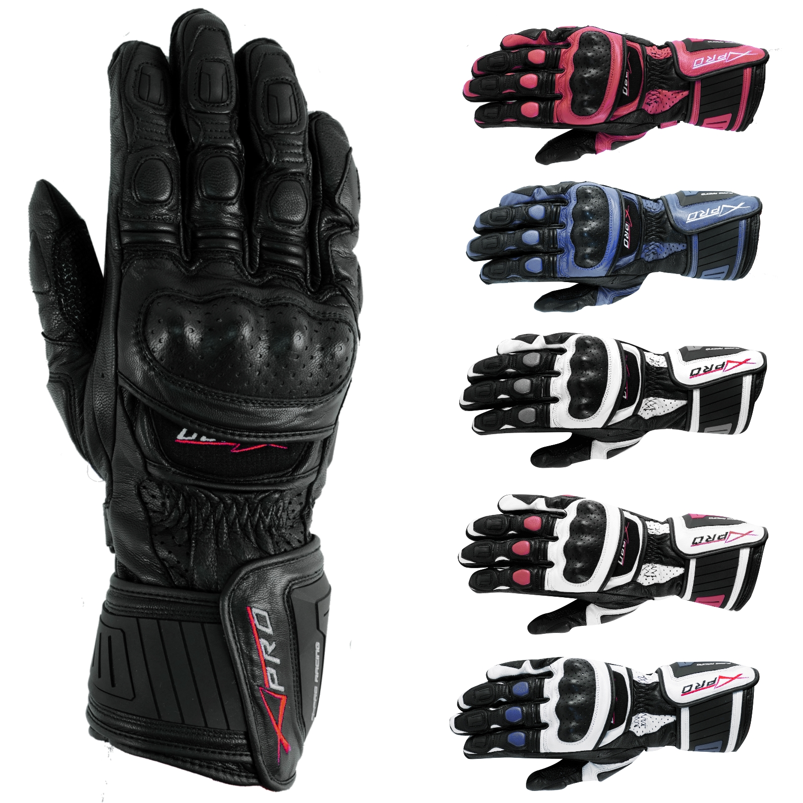 sport piste racing gants moto motard cuir protections phalanges renforc s ebay. Black Bedroom Furniture Sets. Home Design Ideas